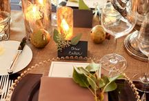 Place Settings / Put down the phones and let's socialize over a wonderfully prepared meal against an eye catching tablescape. Beautiful, simple, elegant and rustic table inspiration for your next dinner party or brunch.
