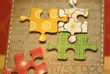 Puzzelstukjes kaart