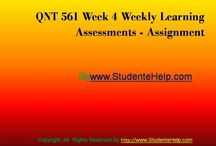 QNT 561 Week 4 Weekly Learning Assessments
