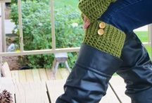 Crochet - boot cuffs / crochet boot cuffs