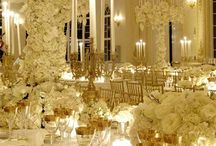 Gold Weddings / Wedding tablecloths and special event linens in Gold.