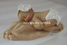 Praying Hands Baptisim Baby Topper