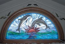 Dolphin Stained Glass