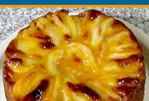 tarta de peras .