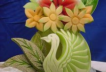 Beautiful Carving fruits&vegetables