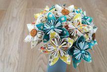 Bouquets de mariées en papiers & tissus