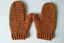 Szydełkowe rękawice