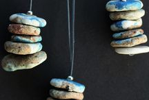 Cairn necklace Pebble love / Cairn necklaces zen Pebbles stacked stoneware
