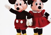 crochet mickey & minnie mouse
