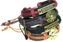 BRACELETS / Wholesale bracelets, select from our range of handmade leather bracelets, pearl, bead bracelets and more...   They are very comfortable to wear, great value and also great product for Crafts shops and stalls to offer your customers that special personalized gift.