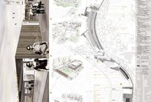 Architecture panels / Layout, boards, plans, sections, ...