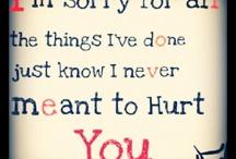 I'm Sorry..