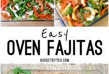 Fajitas, Tacos, Enchiladas