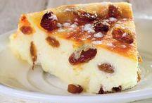 desert cu brânză de vaci si stafide
