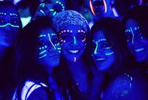 Glow in the dark face