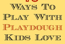 Playdough and sensory activities