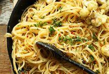 Vegan pasta garlic