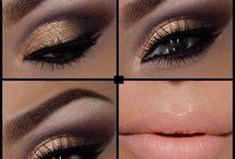 Natural gold look / Nice and elegant make up