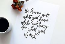 Calligraphy & quotes
