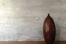 Polished concrete walls