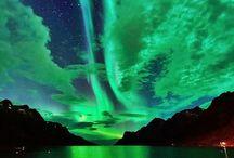noite céu colorido
