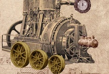 steampunk / Steampunk art evokes an alternate reality where steam is the primary source of power. Technology, though highly advanced, has a very different look and feel, and fashion is heavily influenced by Victorian styles. I'm interested especially in its  craft and art and films