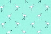 Stoffe Flamingo