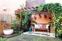 Área Externa / Varandas, Espaço Gourmet, Terraços, Churrasqueiras, Jardins...  / by Vânia Almeida