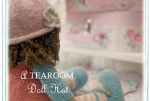 'A TEAROOM Doll Hat' Knitting Pattern...