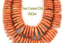 Southwest Jewelry Supplies / Kingman Turquoise Beads | Apple Coral Beads | Four Corners USA OnLine Jewelry Making Beading Supplies / by Four Corners USA OnLine