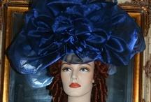"Kentucky Derby Fascinator Haute Couture ""Princess Aurora"" Sapphire Blue / Sapphire Blue Organza"