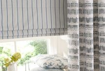 Room Collections / Collection of Curtain Fabrics within Room Settings or stood alone.