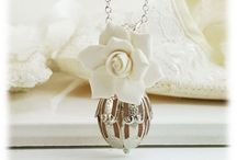 Scented Flower Necklaces / Handcrafted flower necklaces with scented perfume ball.