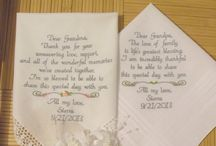 Grandma & Grandpa Wedding Gift Embroidered Wedding Handkerchief
