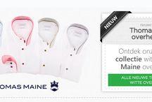 Thomas Maine / Italiaanse overhemden die zich uitstekend laten combineren.
