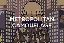 Metropolitan Camouflage / Let us introduce you to the protagonist of a cartoon about the metropolitan idea behind Moncler's camouflage: a slightly bizarre, distracted fashion blogger - ironic, witty, deep and with a street sensibility. She'll guide you to discover this amazing non pattern-pattern...