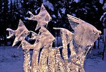 ICE/snow ART AND SCULPTURES / Ice or snow it's amazing and beautiful art. / by Lisha McBride