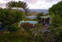 Villa La Danse du Soleil / Perched in the heights of Devé, current owners Bob and Marilyn Tarpy of Lafayette, Louisiana purchased this unique villa in 1994 from noted St. Barth Architect Pierre Monsaingeon. The architect designed and built it as his personal residence and his family's home in 1978.  The Tarpys named it Villa La Danse du Soleil, which means sundance. It lays claim to panoramic views of Toiny and the sunrises are simply inspirational!