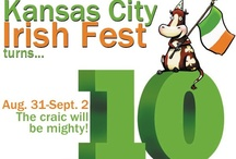 KC Irish Fest Cow Pasture / Each year, a Hallmark artist creates a new cow mascot for us. Here is a tribute to our past KC Irish Fest cows.