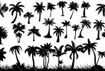 Tree Silhouette Vector / Varieties of palm trees for your palm tree silhouette vector vector stock like coconut palms,bamboo palms, parlor palms and many more.