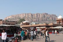 Jodhpur Rajasthan The Blue City / Jodhpur is a busy city origanally made its money through trade links through Delhi India's capital and Gujarat. trade was with opium, copper, silk, date palms and coffee.