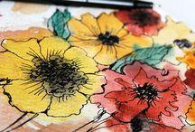 Outlined florals