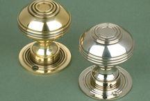 Brass door knobs - traditional
