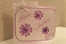 Mothers' Day Cards & gifts Pink Paper Blosssoms / Handcrafted cards & gifts