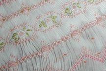 bordados em favos smock