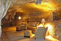 Man caves / Cool places where men live and sometimes share with their women and children