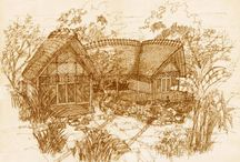 Sketches of Fivelements / Our architect Ketut Arthana loves sketching / by Fivelements Puri Ahimsa