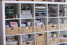 Craft and Hobby Room / Ways to organize and display craft supplies. Craft room decorating. Tips and tricks. / by Tawsha & Patti (organized CHAOS online)
