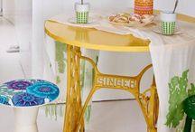 stôl so sijacieho stroja