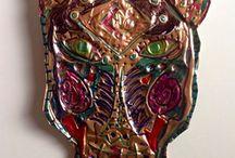 Masks / Masks of all cultures, mask lesson plans, mask examples, metal masks, wood masks, ceramic masks, paper masks